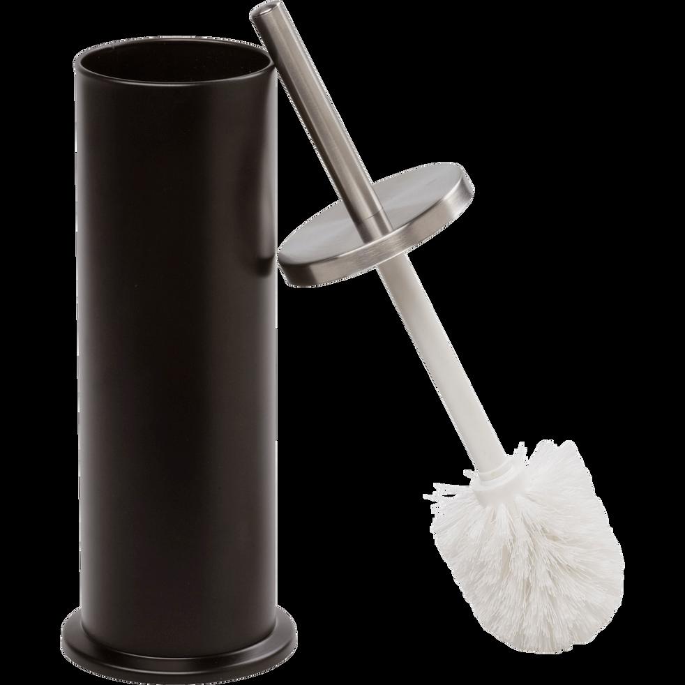 Balai et porte-balai WC noir-Cedric