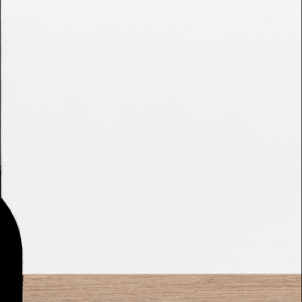 Armoire dressing d'angle avec 1 porte effet chêne - blanc-NESTOR