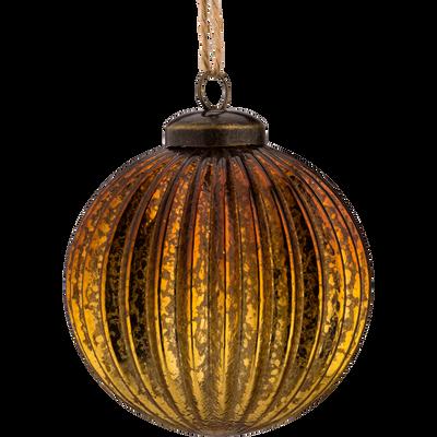Boule en verre doré D8cm-AFLOU