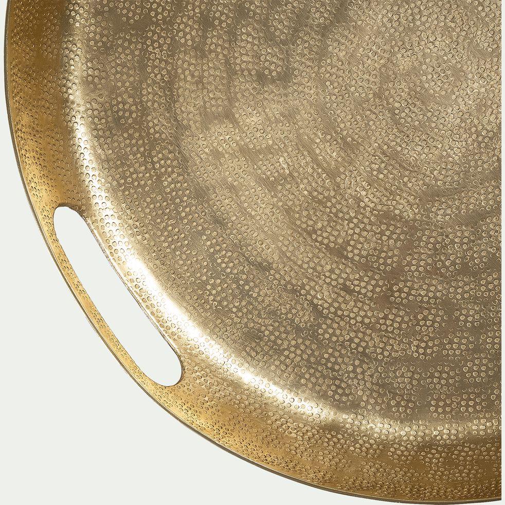 Plateau rond en aluminium - doré D40cm-ROUMI