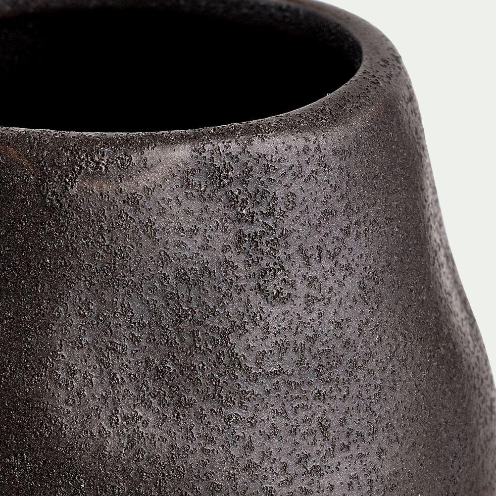 Cache-pot en céramique - noir D9,5cmxH8cm-GEBIZ