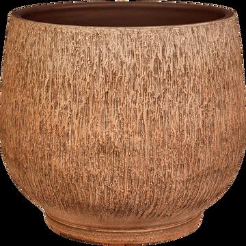 Cache-pot en terre cuite H22xD24 cm-Tétouan