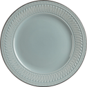 Assiette plate en grès gris avec motifs en relief D26.5cm-EMPIRE