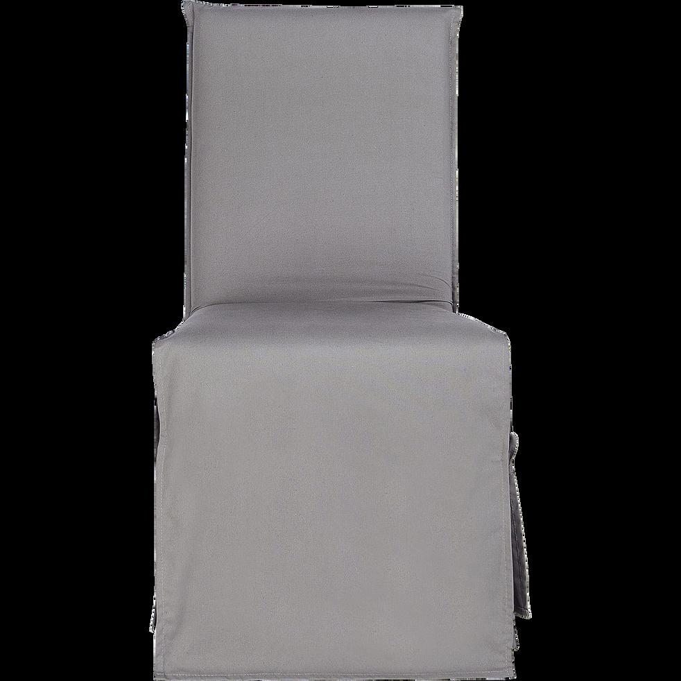 housse de chaise en coton gris restanque lily galettes. Black Bedroom Furniture Sets. Home Design Ideas