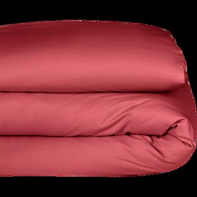 Housse de couette en coton rouge arbouse 260x240cm-CALANQUES