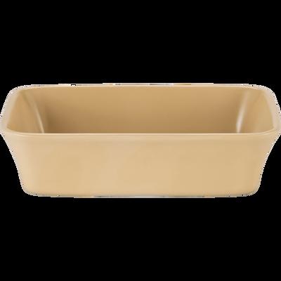 Plat à four rectangulaire en grès beige nefle 26x18cm-ALVARA