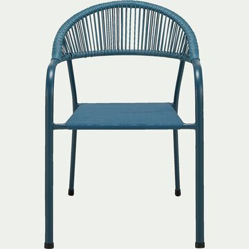 Chaise de jardin avec accoudoirs - bleu figuerolles-Jadida