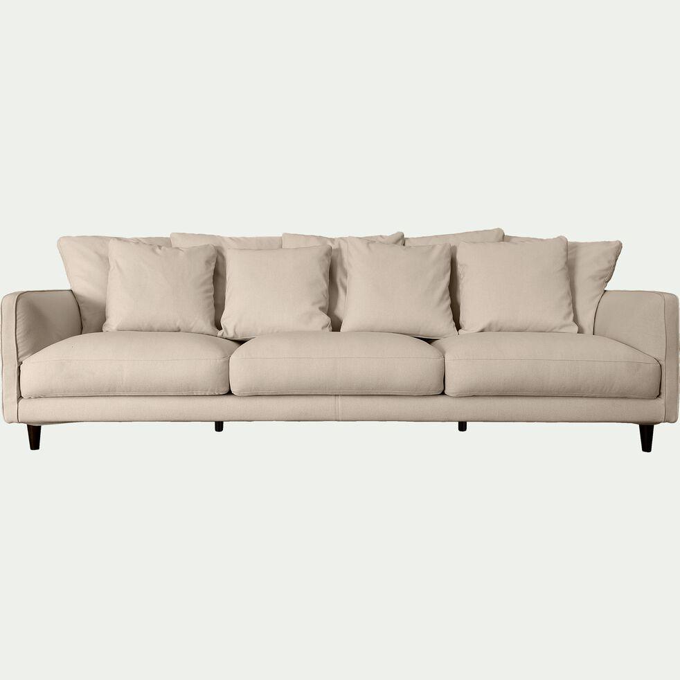 Canapé 6 places fixe en tissu - beige roucas-LENITA