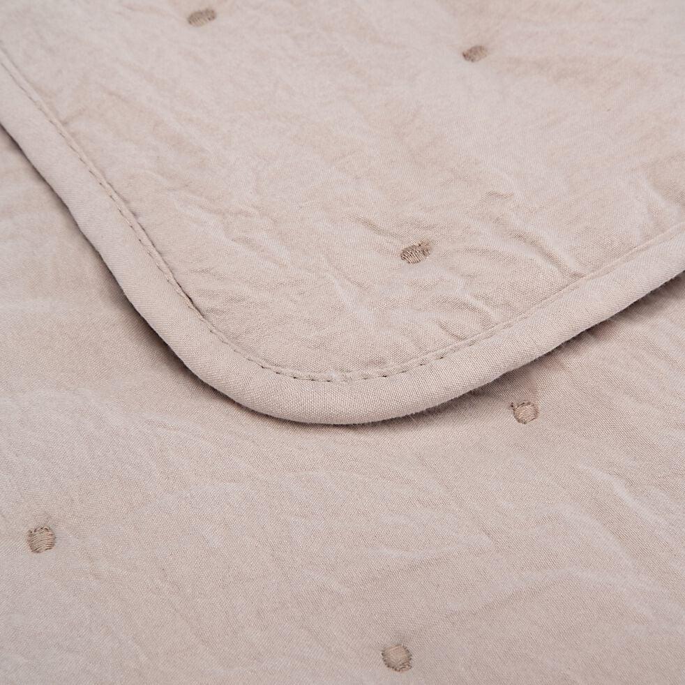 Couvre-lit effet capitonné- beige alpilles 230x250cm-BADOUR