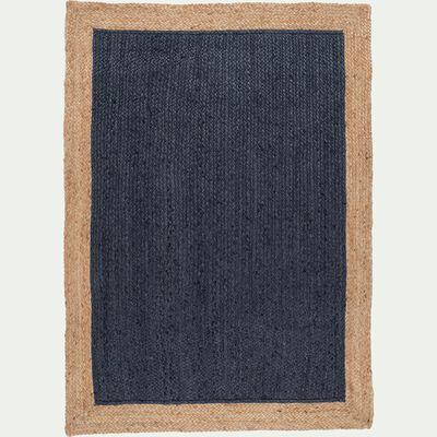 Tapis en jute bleu myrte 120x170cm-NAÏA
