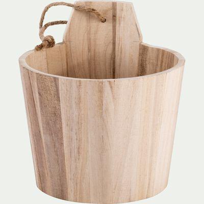 Sceau en bois de balsa - naturel D13xH16cm-RETZ
