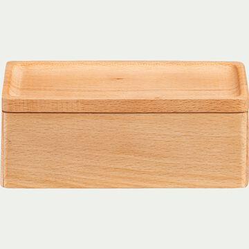 Boite décorative en bois de pin - naturel L13xl7xH5cm-BIANCA