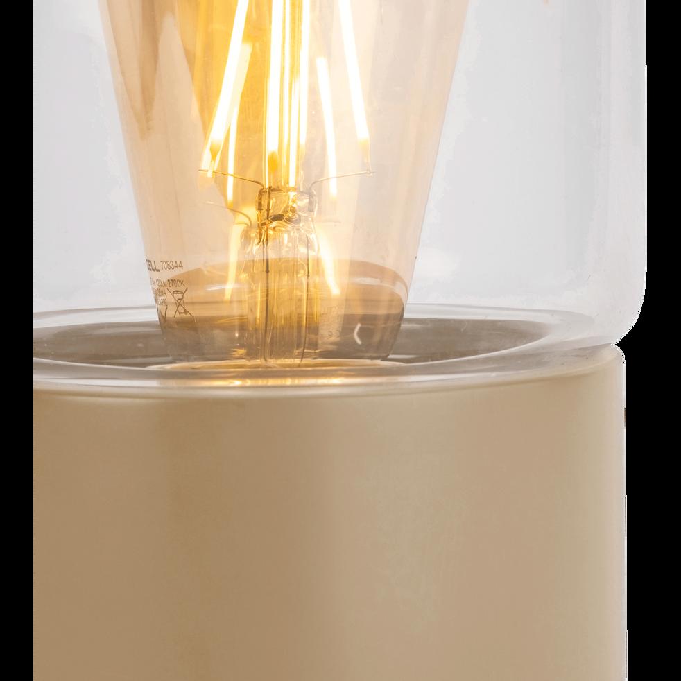 Lampe à poser en métal rose argile H24,5cm-MANUE
