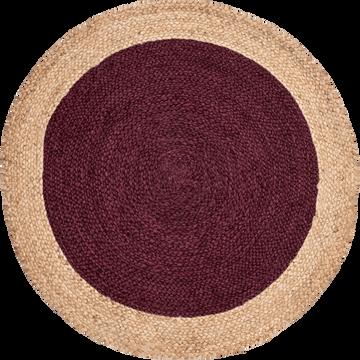 Tapis rond en jute rouge sumac-NAIA