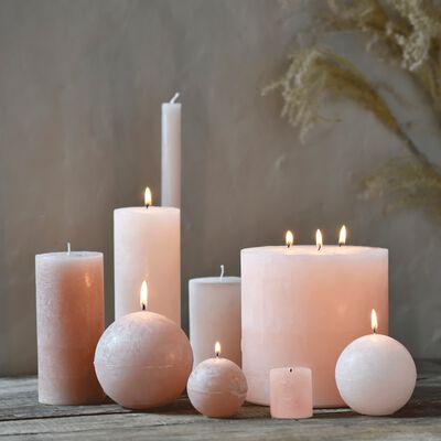 Bougie cylindrique - rose sable H19cm-BEJAIA