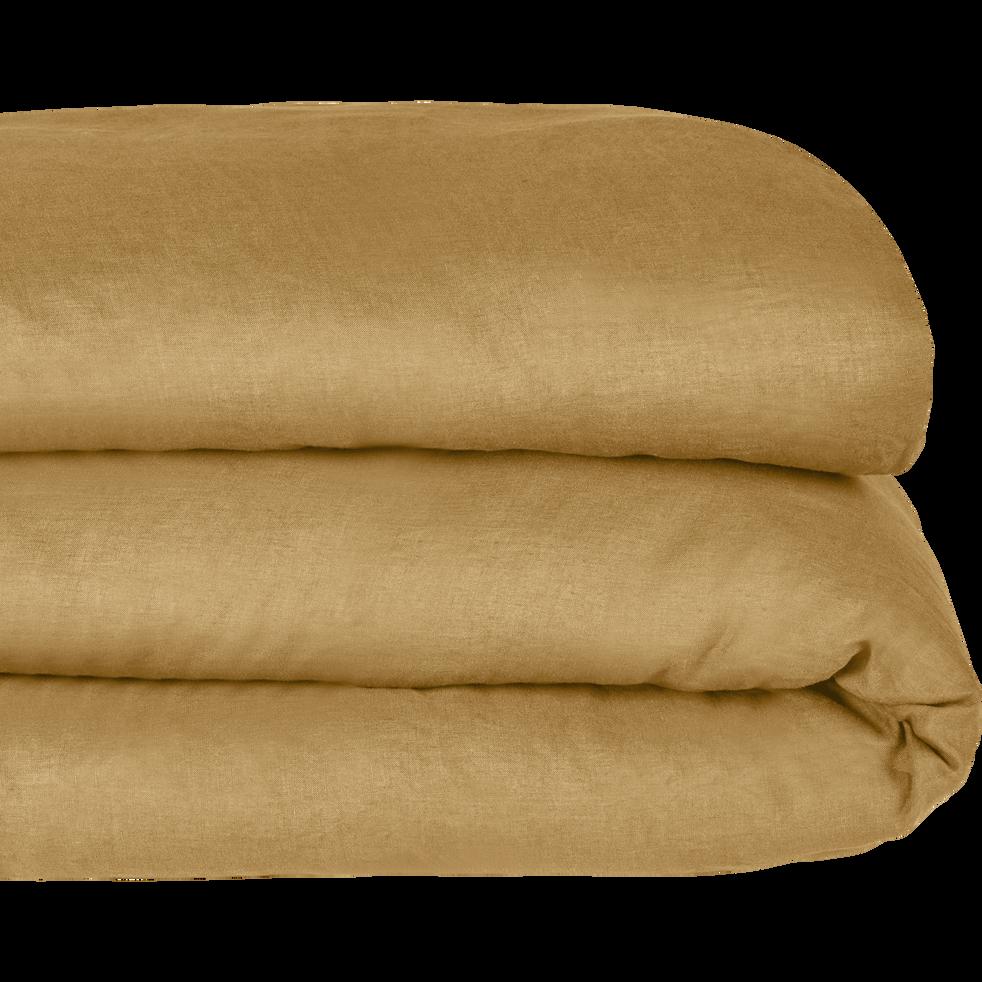 housse de couette en lin beige n fle 260x240cm vence 260x240 cm catalogue storefront. Black Bedroom Furniture Sets. Home Design Ideas