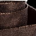 Ruban en polyester marron 6,3x300cm-TOUDMA