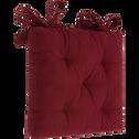Galette de chaise rouge sumac 40x40cm-CALANQUES