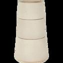 Pot en céramique écru (plusieurs tailles)-Choucas