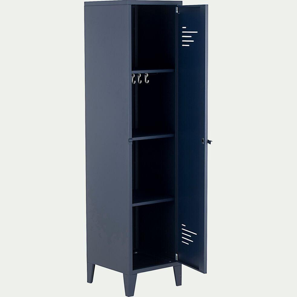 Armoire 1 porte en métal - H200xl50xP47,50 cm bleu myrte-LOFTER