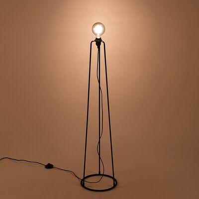 Pied de lampadaire en métal H112cm - noir-BLANDINE