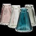 Vase en verre rose H10cm-Psiras
