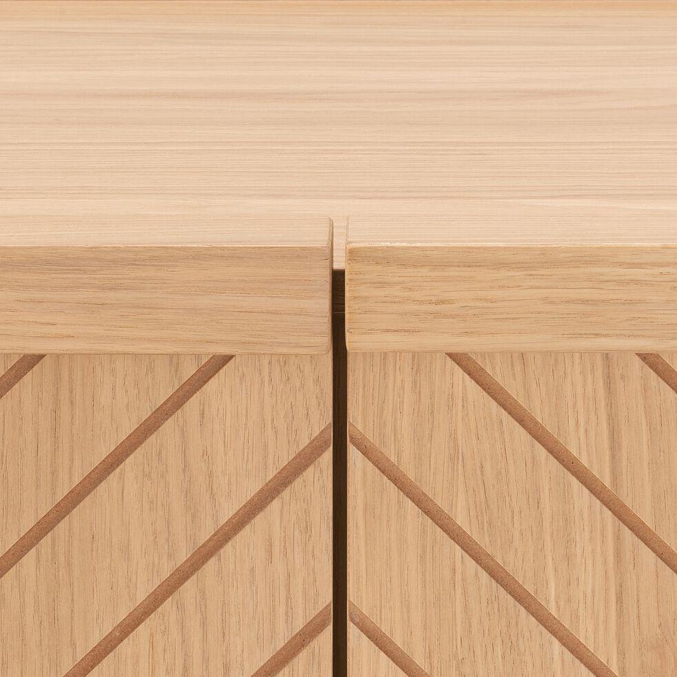 Buffet bas 3 portes plaqué chêne-OSCILLO