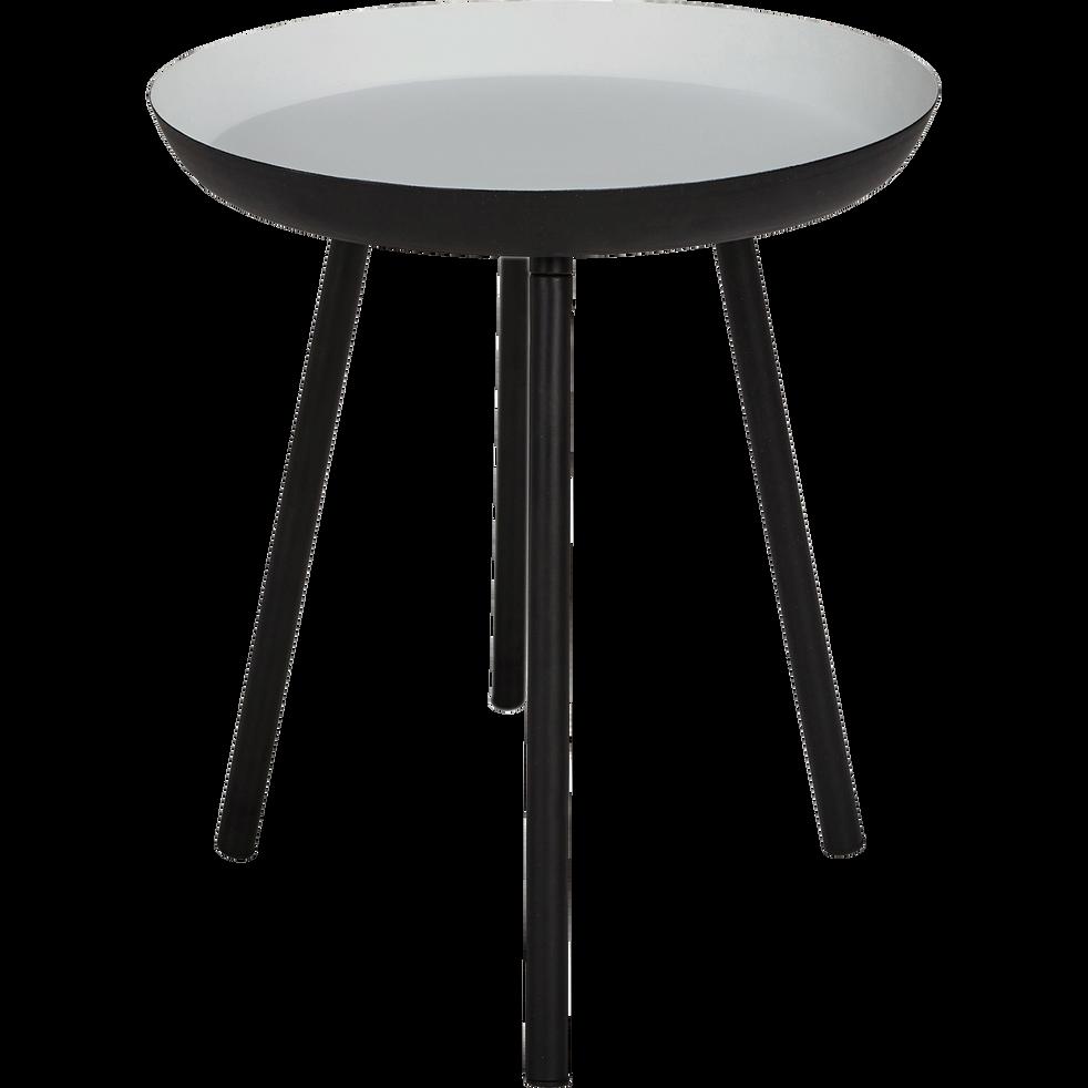 bout de canap en acier gris clair soufio bouts de. Black Bedroom Furniture Sets. Home Design Ideas