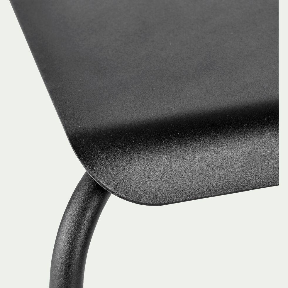 Chaise en métal noir-GAMEOU