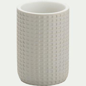 Gobelet en polyrésine - gris borie H10,5cm-LOUBET