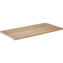 Plateau de bureau décor chêne 75x150 cm-LUDO
