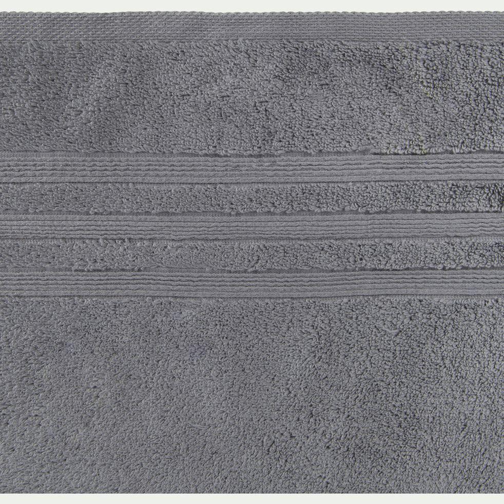 Serviette invité bouclette en coton - gris anthracite 30x50cm-Noun