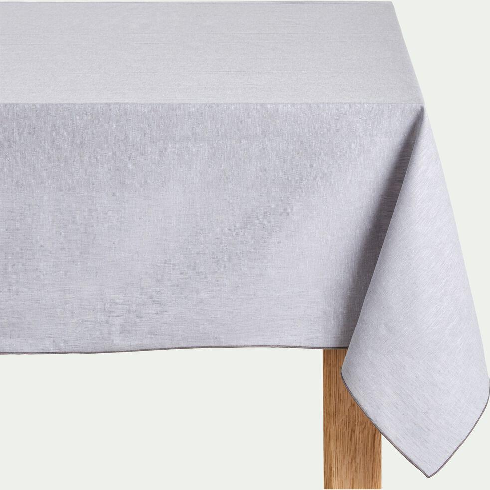 Nappe en lin et coton gris borie 170x170cm-NOLA