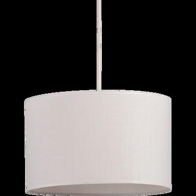 Suspension cylindrique en tissu blanc D40cm-MISTRAL