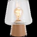Lampe à poser en métal rose argile H21cm-BRIGIT