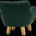 Fauteuil en tissu vert foncé-POPPY