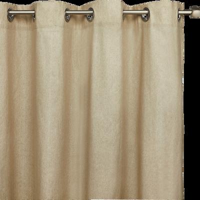 Rideau à oeillets beige pailleté 140x250cm-ASTRID