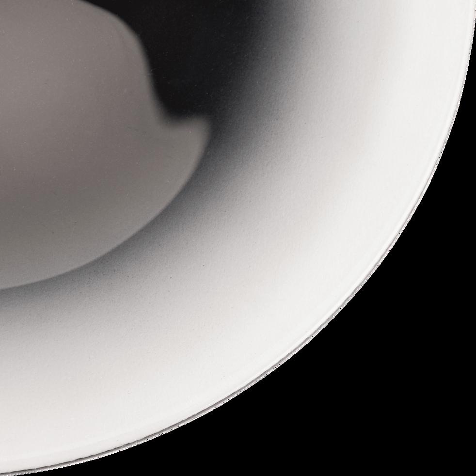 Assiette à dessert en verre noir D21cm-AURORE