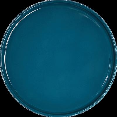 Assiette plate en faïence bleu figuerolles D27cm-VADIM