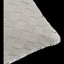 Coussin tressé en coton vert 30x50cm-CAMOGLI