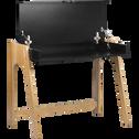 Bureau en bois noir avec plateau relevable-DUC