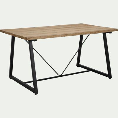 Ensemble table (4 à 6 places) en magnésie et fer & chaise et fauteuil de jardin en aluminium-Dublin et Maria