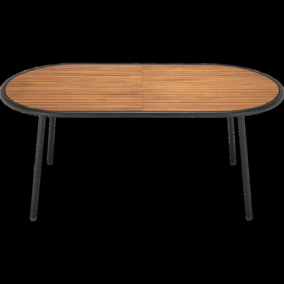 ALDO - Table de jardin en acacia FSC et métal (4 à 6 places)