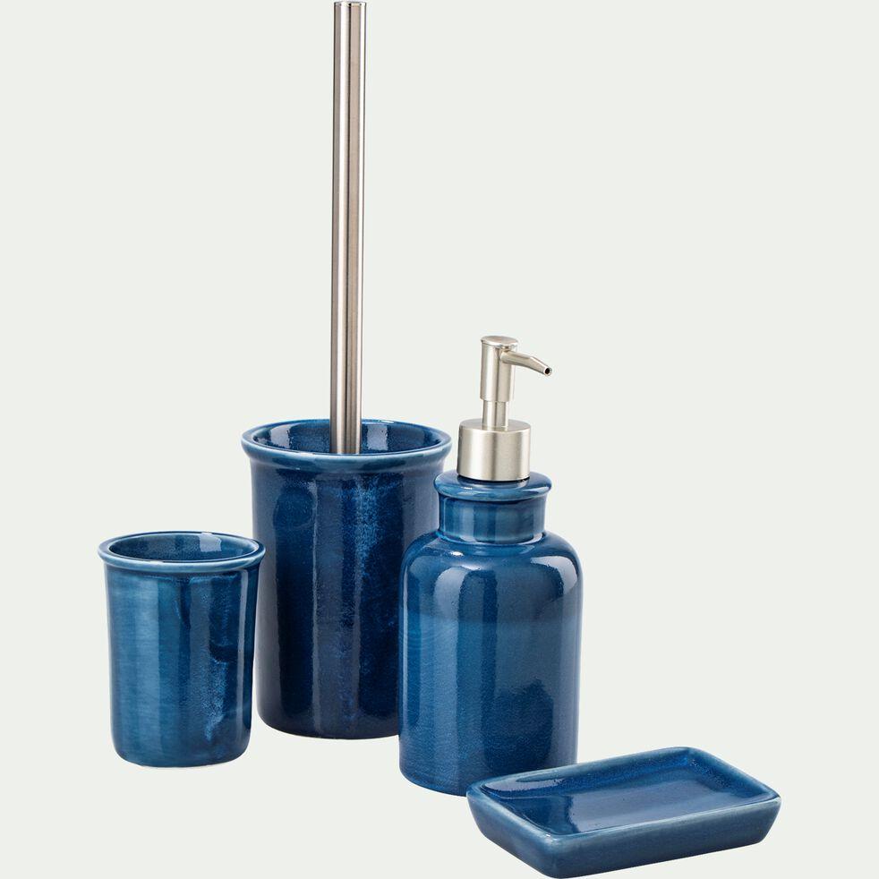 Porte-savon en céramique - bleu figuerolles-DANA