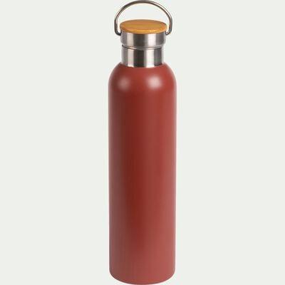 Bouteille en inox - rouge cade - 1L-Coucourdo