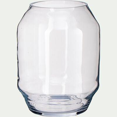 Vase en verre - transparent H33cm-PIBLO