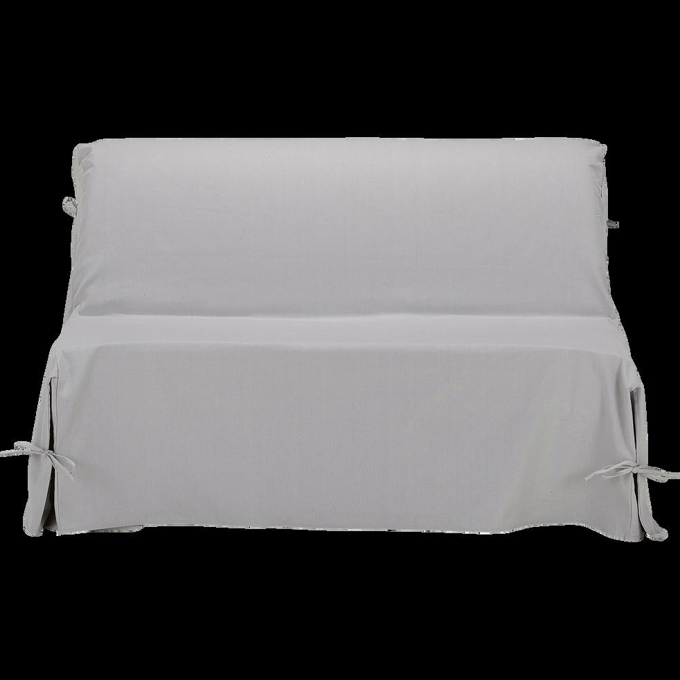 Pauline Housse De Bz En Coton Et Polyester Gris Borie 70x140x60cm