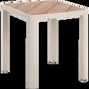 Table de jardin carrée en aluminium gris borie (2 places)-ALEP