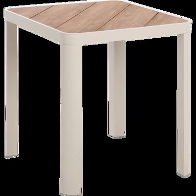 table de jardin carrée en aluminium et composite Gris borie-ALEP