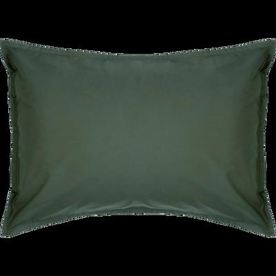 Lot de 2 taies d'oreiller en percale de coton Vert cèdre 50x70cm-FLORE